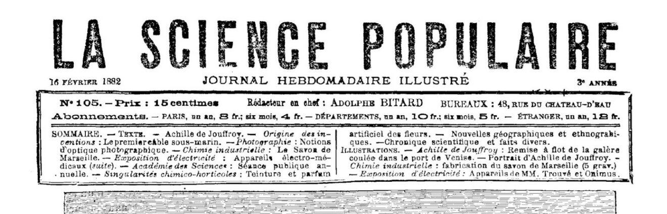 Vie et mort d'un hebdomadaire de vulgarisation scientifique : dans les cuisines de La Science populaire (1880-1884)