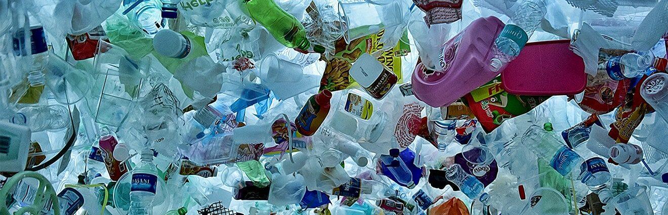plastic bottles in the ocean