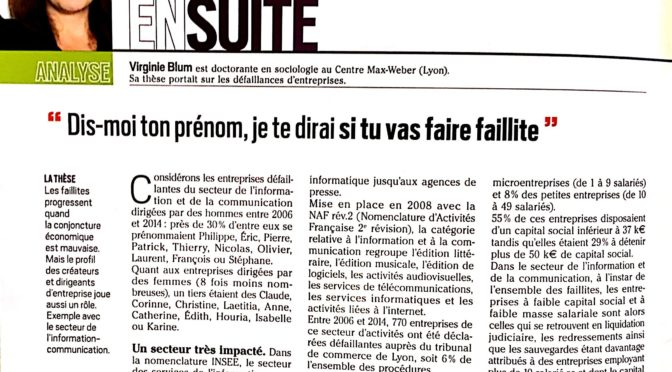 Les faillites d'entreprises dans le secteur de l'InfoCom [paru dans Intermédia]