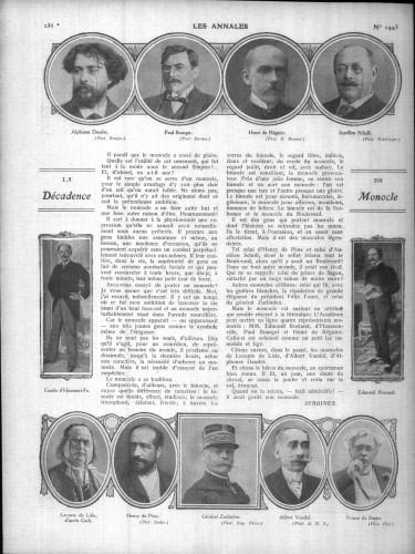 1911 La Décadence du Monocle Annale politiques et littéraires