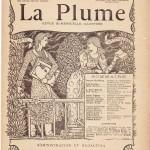 Couverture et catalogue dans La Plume, n° 136, 15 décembre 1895, n.p.