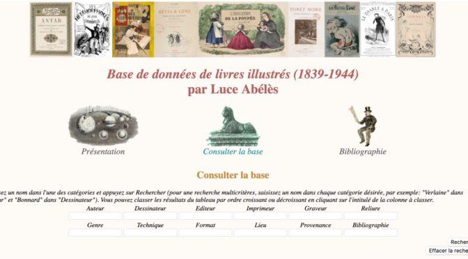 Base de données de livres illustrés (1839-1914) par Luce Abélès