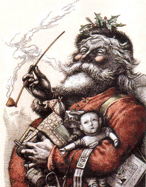 Biographie du Père Noël   Santa-thomas-nast1