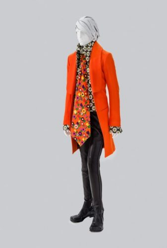 """Walter Van Beirendonck Belgium, born 1957 Ensemble from the """"Revolution"""" collection Fall/Winter 2000--2001 Gift of Walter Van Beirendonck M.2014.87.5a--f"""