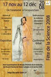 """Affiche de l'exposition """"De l'Anatomie à l'acupuncture"""""""