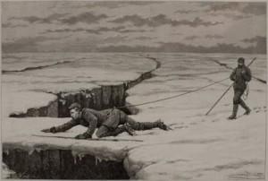 Un pont de neige. Edouard Charton : Le tour du monde, nouveau journal des voyages Paris : Hachette, 1891. Lyon 1, Musée d'anatomie