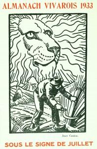 Almanach vivarois (sous le signe de juillet), 1933. Éd. du Pigeonnier. Cote : 88641