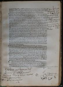 Feuillet l recto. Nicolas Perotti, Rudimenta grammatices, 1474 (i.e. 1484). Cote : 1R 11324