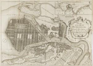 Plan de Saint-Pétersbourg en 1716