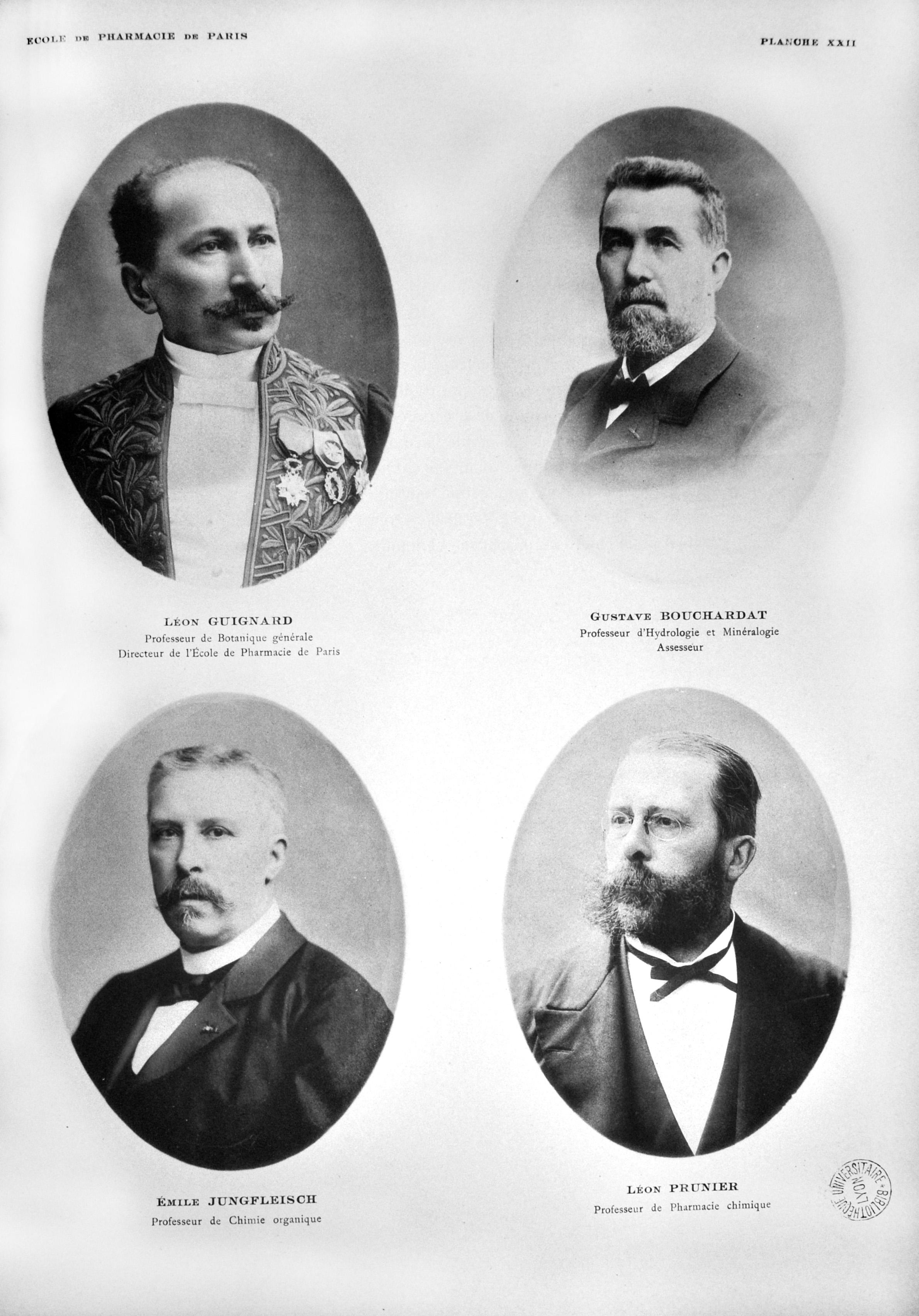 Pl XXII. Centenaire de l'École supérieure de pharmacie de l'Université de Paris, 1904. Cote 11542.