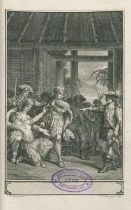 Gravure du tome XVIII, d'après un dessin de J.-M. Moreau