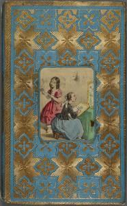 Une couverture attrayante pour un contenu austère : <em>Les soirées enfantines</em>. Limoges : Barbou Frères, [18..]. Cote 2RA 1901.