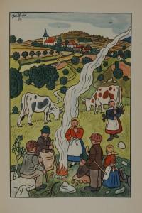 Josef Lada. Vzpomínky z dětství (Souvenirs d'enfance). Prague, Státní nakladatelství dětské knihy, 1957. J 131424.