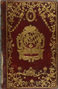Plat décoré à la dentelle rocailleGabriel-Henri Gaillard. Rhétorique françoise à l'usage de jeunes demoiselles. 1776. 2RA 2977