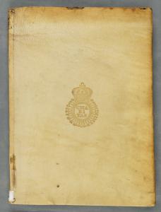 Une reliure parchemin du FANCBaudier Michel. Histoire de l'administration de Suger abbé de Saint-Denys.... 1645. Cote : FANC 6816