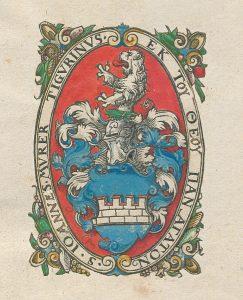 Ex-libris armorié de la main de Jean Murer de Zürich