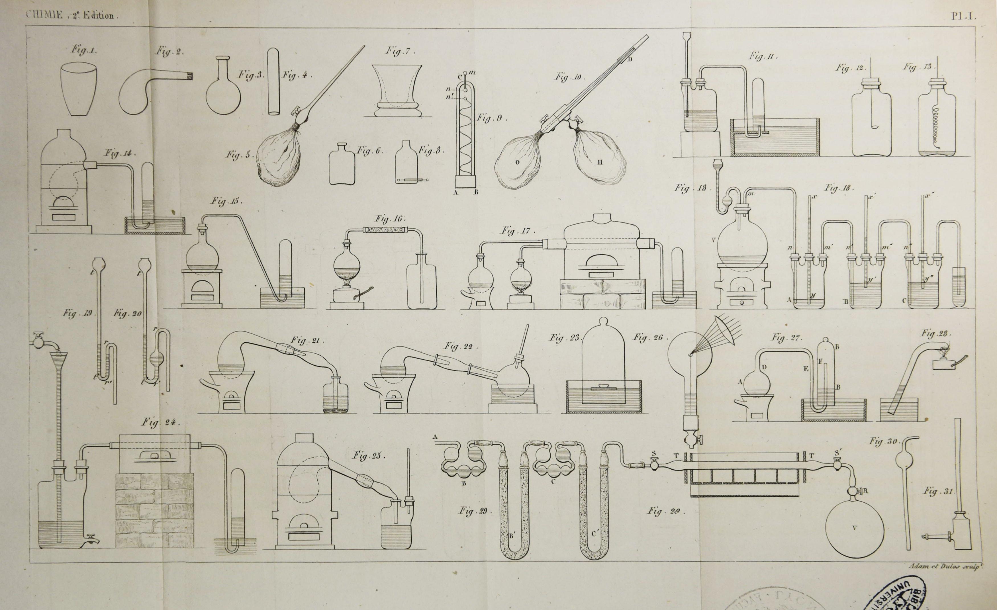 Cours elementaire de chimie 1847_planche