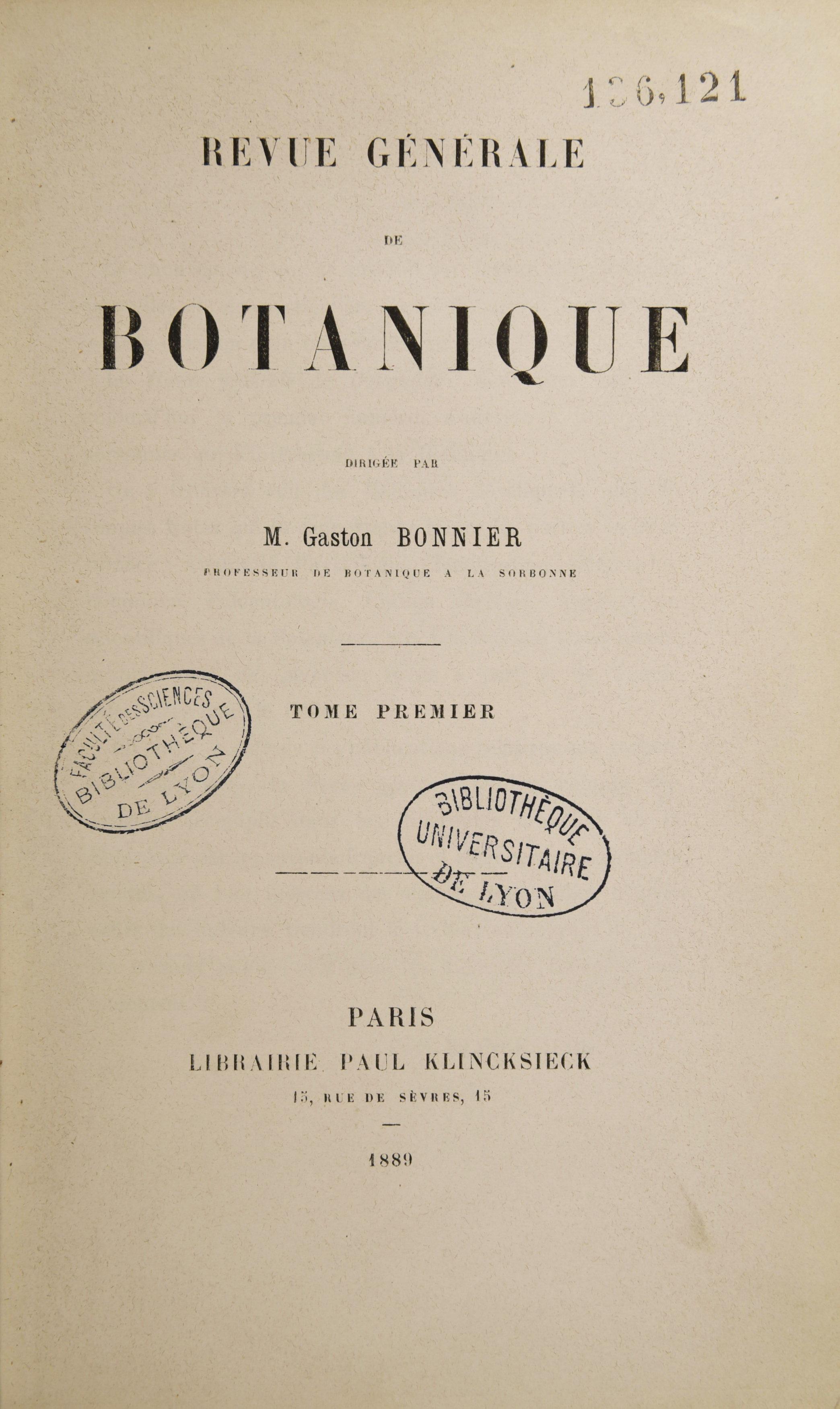 Bonnier - Botanique