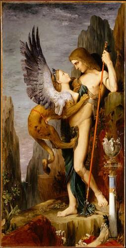 """""""Edipo y la esfinge"""", de Gustave Moreau"""