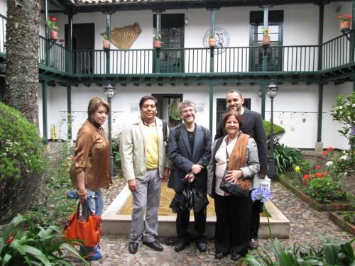 Nohra, David, Paco, Armando y Elina (de izquierda a derecha)