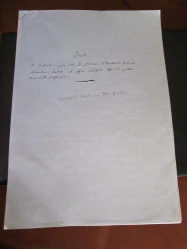 Primera página del discurso de Camús para el ejercicio de su oposición a cátedra