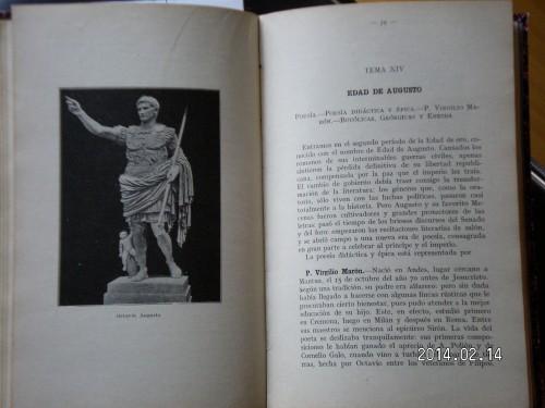 Manual de Literatura Latina de Eustaquio Echauri, publicado en 1928, en plena dictadura de Primo de Ribera