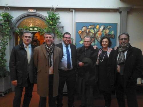El día de la defensa de la tesis. De izquierda a derecha, Ignacio Pinilla, Francisco García Jurado, Ismael Elías Muñoz, José Luis Moralejo, Felisa del Barrio y Vicente Cristóbal