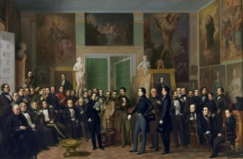 Los poetas contemporáneos. Una lectura de Zorrilla en el estudio del pintor Copyright de la imagen ©Museo Nacional del Prado