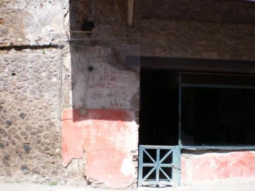 Un grafito pompeyano (fotografía de F. García Jurado)