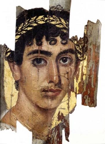 Uno de los conocidos retratos de El Fayum, dode aparecieron los Mimos de Herodas.