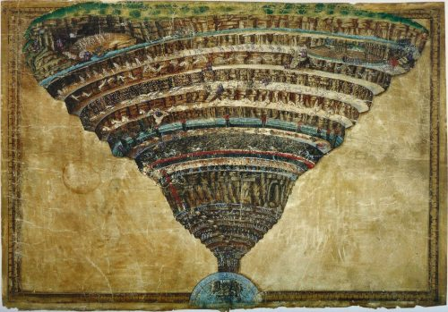 El mapa del infierno, según Botticelli