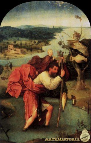 """El Bosco, """"San Cristóbal llevando al niño Jesús"""""""