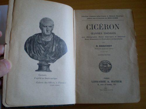 Esta antologia de Cicerón nos muestra un visión netamente francesa del autor latino