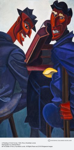"Percy Wyndham Lewis, ""A Reading of Ovid (Tyros)"" (1920)"