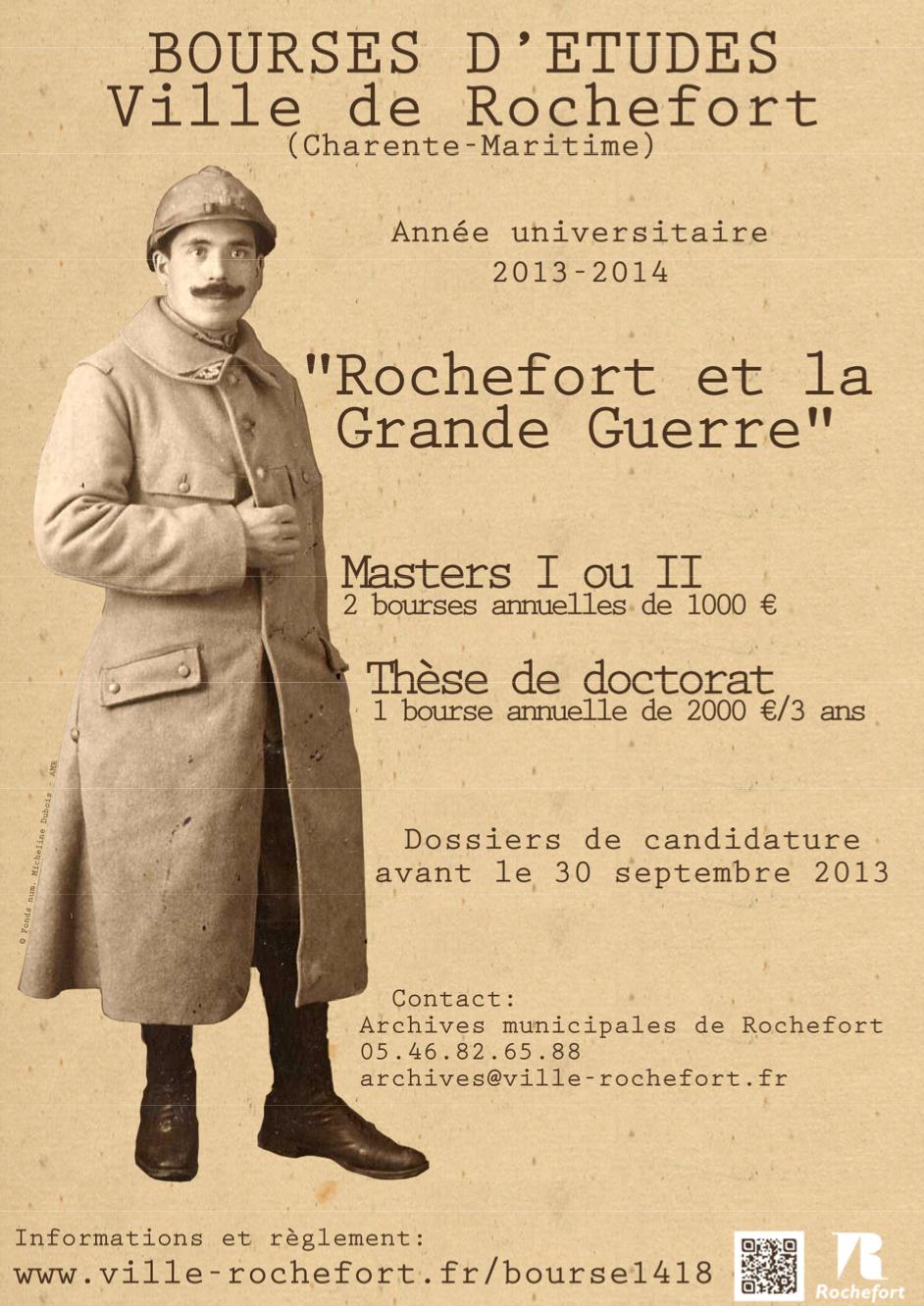 Bourses de la ville de Rochefort