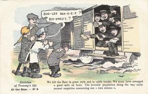 Carciature parue dans le Cheltenham Looker-On le 7 Septembre 1917 http://languages-and-first-world-war.tumblr.com/post/82307406942/on-7-september-1917-the-cheltenham-looker-on