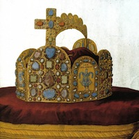 La couronne d'Empire. Gravure de 1751. Source : Wikipedia Commons.