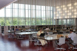 Lesesaal des Departementalarchivs Bas-Rhin (Straßburg)