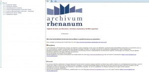 "Internetportal ""Archivum Rhenanum"""