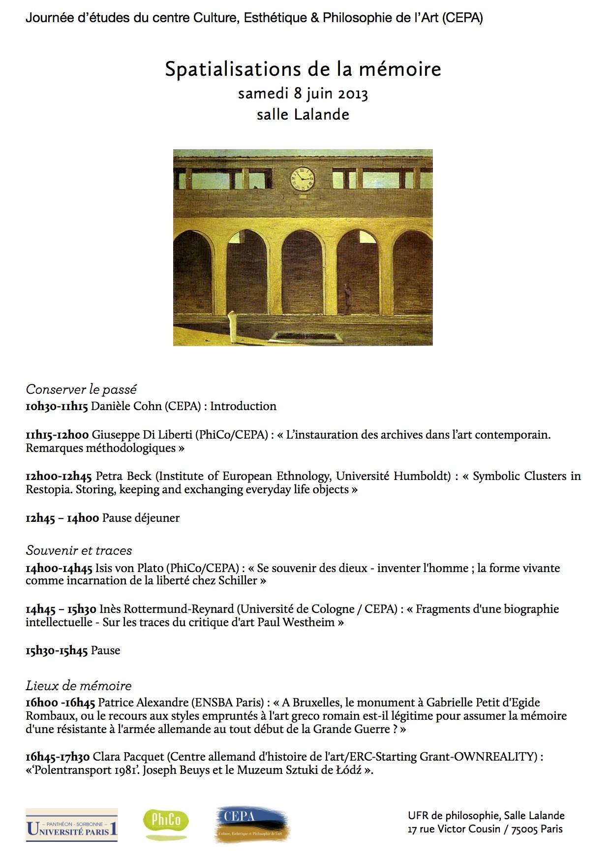 Journée d'études du CEPA