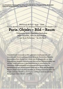 Séance de travail : Paris. Objekt – Bild – Raum. Sur le Passagen-Werk de Walter Benjamin