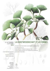 Colloque «La <i>Kunstwissenschaft</i> et les formes», Scuola Normale de Pisa (24/09/14 – 4/10/14)