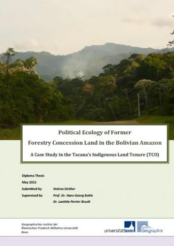 Thèse de diploma d'Helena Stroher sur la concession forestière ex-PROINSA