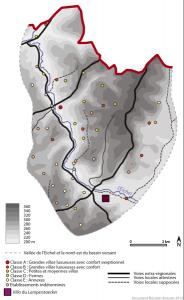 Habitats isolés et voirie dans la basse vallée de l'Eichel au cours du Haut Empire