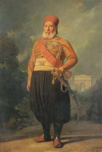 Ibrahim Pascha (Gemälde von Charles-Philippe Larivière)