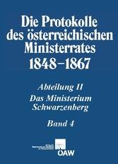 Protokolle des österreichischen Ministerrates 1848-1867, Bd. 2/4