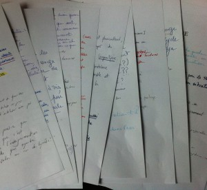 Petits exercices collectifs d'écriture pour le mémoire de recherche