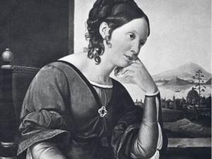 Italienische Reisen. Caroline von Humboldt nach einem Gemälde von Friedrich Wilhelm von Schadow (Ausschnitt). Foto: Ullstein - FOTO: ULLSTEIN BILD