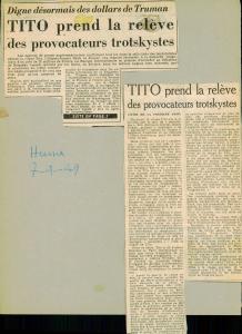 Tito l'huma provocateurs trotskystes