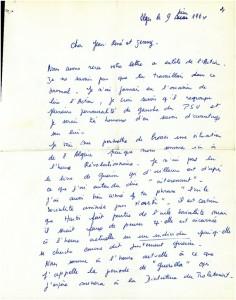 Lettre Séverine et François page 1